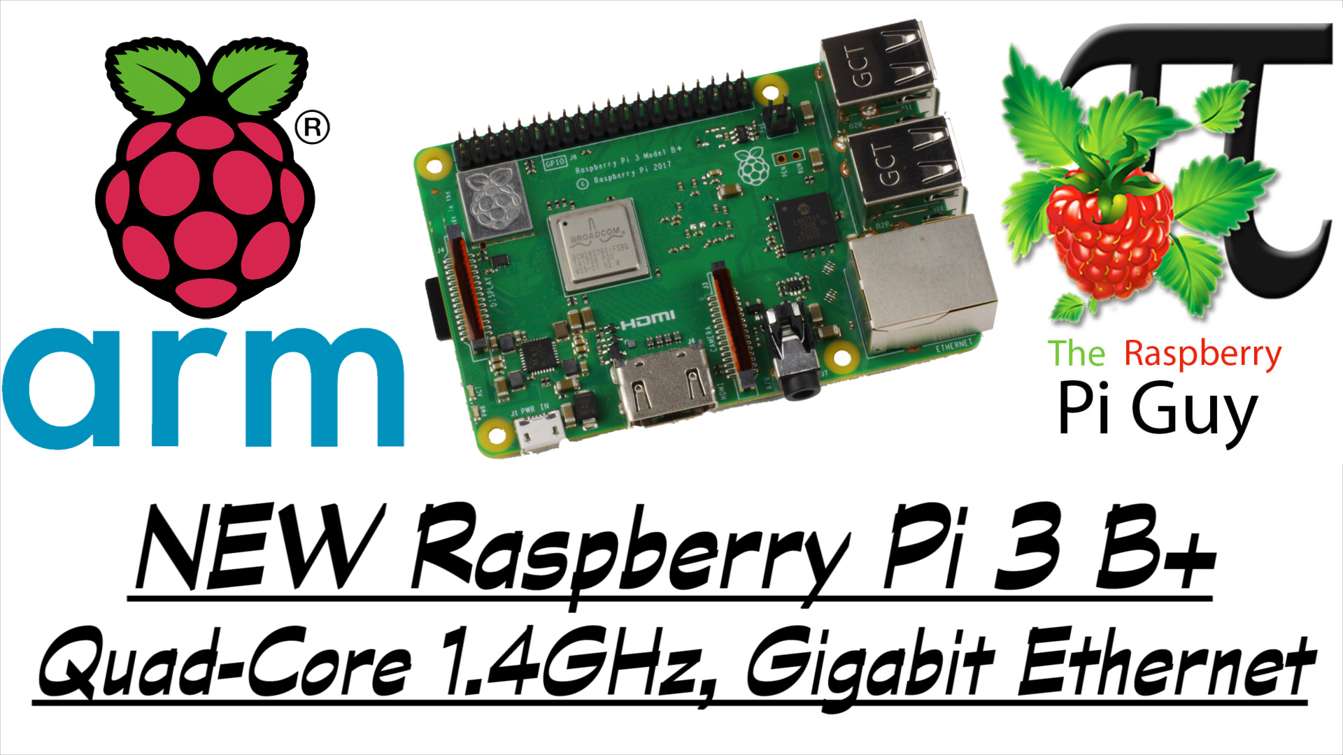 Tutorials videos the raspberry pi guy new raspberry pi 3 b quad core 14ghz gigabit ethernet baditri Images